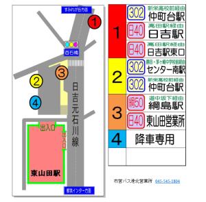 東山田駅バス乗り場